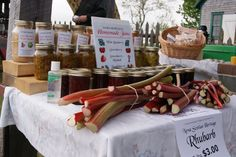 Rhubarb and homemade jams | New Ross Country Farmers' Market