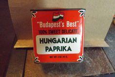 Vintage Tin, Hungarian Paprika, Budapest's Best, Bascom's, Dayton, Ohio., 5 oz. #HungarianPaprika