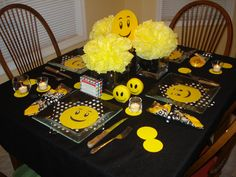 I hope you enjoy these amazing EMOJI PARTY ideas. 13th Birthday Parties, 11th Birthday, Birthday Diy, 60s Party, Party Time, Preteen Birthday, Emoji Theme Party, Girls Tea Party, Happy Party