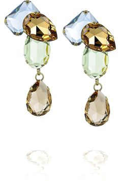Lanvin Strass Drop Earrings