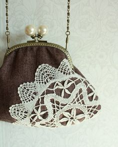 Add a dollie with mod podge to a vintage purse for extra flare for someone who cares