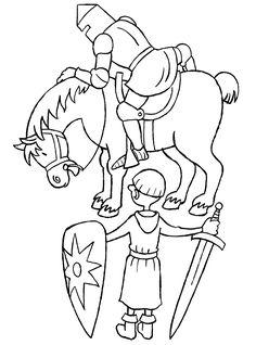 Een ridder en zijn schildknaap