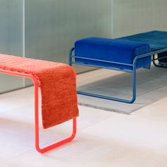 Katrin Greiling turns Kinnsand rugs into furniture Industrial Design Furniture, Furniture Design, Bauhaus Furniture, Of Wallpaper, Sofa Chair, Furniture Makeover, Furniture Plans, Home Textile, Decoration