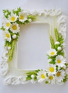 Best 24 of yulia naydun vk – BuzzTMZ Picture Frame Wreath, Picture Frame Crafts, Picture Frames, Diy And Crafts, Arts And Crafts, Paper Crafts, Clay Flowers, Paper Flowers, Cold Porcelain Flowers