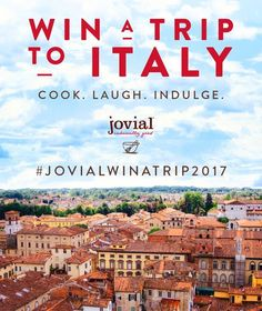 Enter to Win A Trip to Italy with jovial foods!