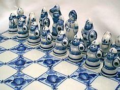 Gzhel Porcelain Chess Set