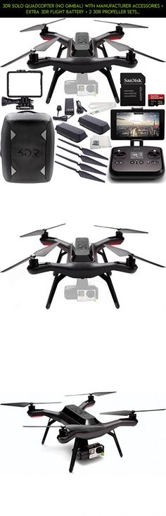 3DR Solo Quadcopter (No Gimbal) with Manufacturer Accessories + Extra 3DR Flight Battery + 2 3DR Propeller Sets + 3DR Solo Backpack + SanDisk 32GB Extreme PRO microSDHC Memory Card + MORE #plans #parts #3dr #camera #technology #gadgets #shopping #products #lanyard #drone #tech #racing #kit #fpv