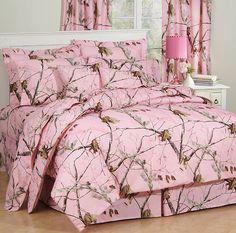 pink Mossy Oak Camo Bedding Sets | True Grit Bedding from Kimlor, Ap Comforter Ensembles and Sheet Sets
