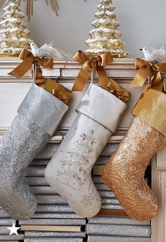 Festive sequin stockings and mini glass trees that shine with LED lights turn any small space into a winter wonderland! Deck your home with holiday delight today — head to macys.com.