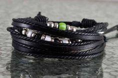 pack bracelets mode homme noir