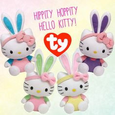 Hello Kitty Basket Beanies and Beanie Babies ready for Easter!