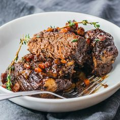 These Instant Pot short ribs are so quick and easy when you use pressure cooking. If you're wondering how to cook them fast, I always recommend the instapot because it's 2x faster than the oven. For the meat, I use boneless beef short ribs. Other ingredients include red wine, balsamic vinegar for the sauce, and any sides. This is the best recipe for a healthy dinner -- low carb and keto. #lowcarb #keto #instantpot No marinade necessary.