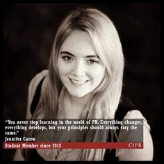 Jennifer Carew - CIPR Student Member since 2012