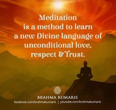 Meditation is a means of transforming the mind.It is a simple practice available to all, which can reduce stress, increase calmness and clarity and promote happiness Rajyoga Meditation, Meditation Methods, Meditation Benefits, Spiritual Thoughts, Daily Thoughts, Spiritual Awakening, Bk Shivani Quotes, Brahma Kumaris, Indian Philosophy