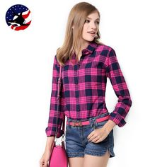 Cheap plaid shirt women, Buy Quality shirt women directly from China shirt top Suppliers: Galeoid cotton women's Blouses sanded female long-sleeve plaid shirt Women cotton Flannel shirt Tops Long Flannel Shirts, Plaid Shirts, Shirt Blouses, Long Sleeve Shirts, Plaid Shirt Women, Outerwear Women, Plus Size Tops, Blouses For Women, Red Plaid