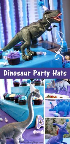 These DIY Dinosaur Party Hats were a fun addition to our Dinosaur Party decorations. They were so easy to make and looked adorable on our party tables! Dinosaur Birthday Party, 6th Birthday Parties, Birthday Diy, Birthday Ideas, Third Birthday, Dinosaur Cake, Birthday Gifts, Happy Birthday, Birthday Party Decorations
