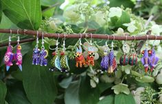Hand Carved & Painted Alebrijes Earrings Birds & Animals Oaxaca Mexican…
