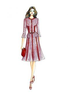 Nos Patrons :: Marfy Collection 2014/2015 :: Automne/Hiver :: Patron de couture 3520 -