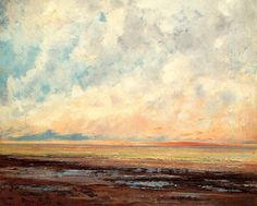 Seascape, Courbet, Gustave, 1866
