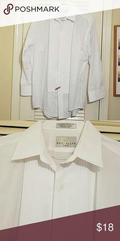 Men's tux shirt Freshly dry cleaned Neil allyn Shirts Dress Shirts