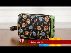 Bolsa necessaire em tecidos Alexis - Maria Adna Ateliê - Cursos e aulas de bolsas em tecidos - YouTube