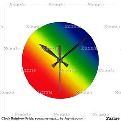 Clock Rainbow Pride, round or square http://www.zazzle.ca/clock_rainbow_pride_round_or_square-256791904560406350?CMPN=shareicon&lang=en&social=true&view=113403048959210985