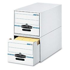 Fellowes Bankers Box Light Duty Stackable Filing Drawers - Set of 6 - FEL00721