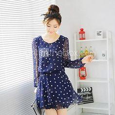 Women's Casual Dress Mini Polyester / Chiffon - USD $14.99