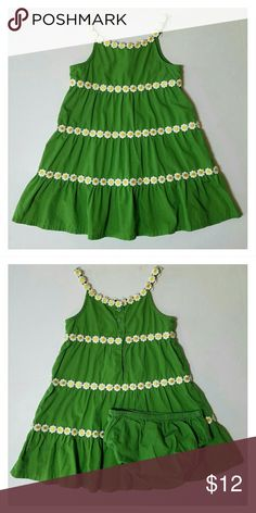 GYMBOREE Green Daisy Chain Dress Girls 12-18M EUC GYMBOREE Pop of Daisies Green Tank Daisy Chain Dress Girls 12-18 Months EUC  Brand: Gymboree Retail Store  Collection Name: Pop of Daisies  Size: 12-18 Months  Main Color: Green Print: Solid, Daisy Appliques Condition: EUC  Style: ? Dress ? Bloomers   Please checkout my other listings of Gymboree clothing size Newborn to 3T. I'm cleaning out my daughters closet. Gymboree Dresses Casual