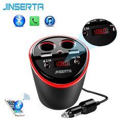 [Visit to Buy] 6-in-1 Handsfree Wireless Bluetooth FM Transmitter Modulator Car Kit MP3 Player w/ 2 USB port LCD Car Cigarette Lighter adapter #Advertisement