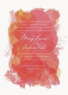 REVEL: Red + Pink Watercolor Invitation