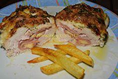 ΜΑΓΕΙΡΙΚΗ ΚΑΙ ΣΥΝΤΑΓΕΣ: Φιλέτο κοτόπουλο γεμιστό & κρέμα στον φούρνο !!! Food Processor Recipes, Food To Make, Steak, Food And Drink, Pork, Turkey, Cooking Recipes, Sweets, Chicken