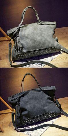 Rivets Shoulderbag Messenger Bag Handbag Motorcycle Bag for big sale! #bag #shoulder #rivet #handbag