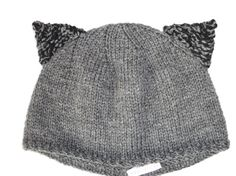 Items similar to Cat hat with ears Hand knitted kitty beanie Grey black or purple on Etsy Festival Tops, Ear Hats, Grey Cats, All The Colors, Hand Knitting, Knitted Hats, Ears, Fashion Accessories, Beanie