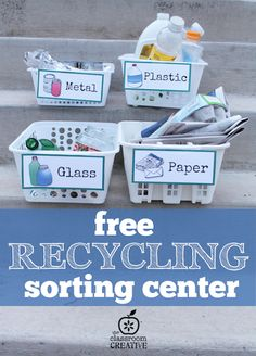 Free Recycling Printables +25 Simple Earth Day Projects for Kids