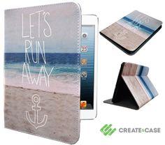 "iPad mini case from Create&Case - ""Let's Run Away"" stylish, unique and colourful Apple iPad mini case photography"