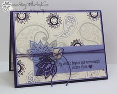 Stampin' Up! Paisleys & Posies for Stamp Ink Paper (Stamp With Amy K)