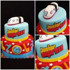 Junior Express cake! #juniorexpress #juniorexpresscake #juniorexpressparty… Junior Express, Birthday Parties, Birthday Cake, Ideas Para Fiestas, Christmas Wallpaper, Almond, Candy, Kids, Valentino