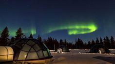 Glass igloos to watch northern lights