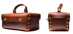 Nathan R. Needle - Leather tool box/ditty box made exclusively for...