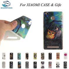 (OUZIFISH)Luxury Cartoon TPU Back Cover Case For Xiaomi Redmi 3X Note 4 Pro 4S MAX Case Silicon Phone Case Skin