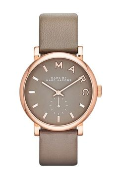 MARC JACOBS 'Baker' Leather Strap Watch, 37mm available at #Nordstrom