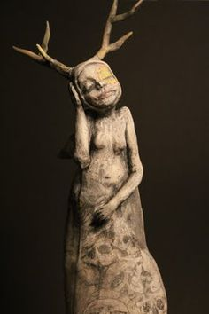 Artist Nina Cork: The Mourner, Matthew 5:5, ceramic and mixed media. Private Collection