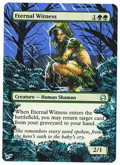 MTG Altered Painted Eternal Witness Modern Masters FREE SHIPPING