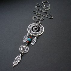 Silver Dreamcatcher unique one of a kind pendant silver
