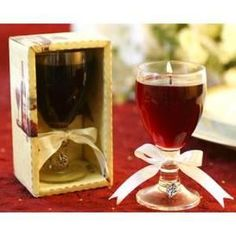 wine theme wedding favors, wine shaped candle