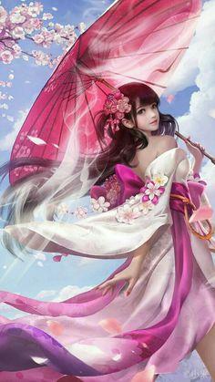 Yêu Anime♥'s media analytics. Fantasy Girl, Chica Fantasy, Fantasy Warrior, Fantasy Women, Anime Fantasy, Beautiful Fantasy Art, Beautiful Anime Girl, Anime Art Girl, Manga Girl