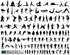 Over 120 silhouettes made available by Sadmonkeydesign.com. Feel free to use these elements for anything you wish, personal and/or commercial. For more free stuff made available by SadMonkeyDesign.com please visit sadmonkeydesign.wordpress.com.. More Free Vector Graphics, www.123freevectors.com