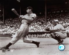 Joe DiMaggio, I think this guy had the Sweetest Swing in the History of the Game.