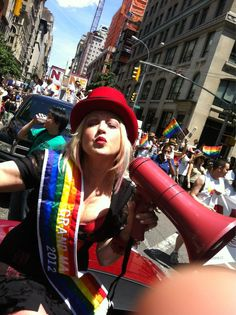 New York Celebrates LGTB Pride With Cyndi Lauper and more than a million of their friends.
